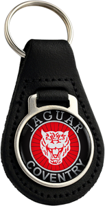 JAGUAR Round Leather Keyfob - COV
