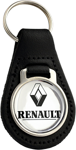 RENAULT Round Leather Keyfob