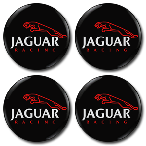 JAGUAR RACING BLACK Wheel Centres