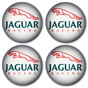 JAGUAR RACING WHITE Wheel Centres