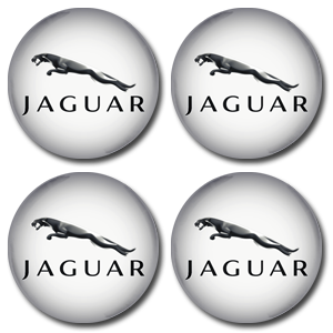 JAGUAR LEAPING White Wheel Centres