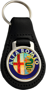 ALFA ROMEO Round Leather Keyfob - COLOUR