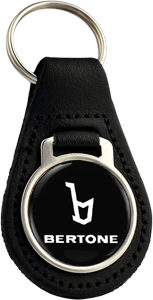 BERTONE Round Leather Keyfob