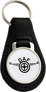 DAF Round Leather Keyfob
