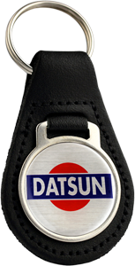 DATSUN Round Leather Keyfob