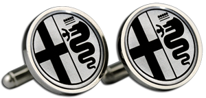 ALFA ROMEO Cufflinks & Gift Box - Black