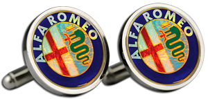 ALFA ROMEO Cufflinks & Gift Box - Colour