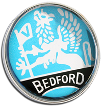 Bedford Clutch Pin Badge - Blue
