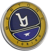 BERTONE Clutch Pin Badge - Colour