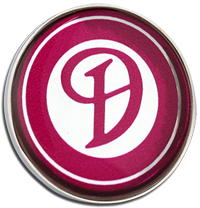 DAIMLER Clutch Pin Badge - Claret Design