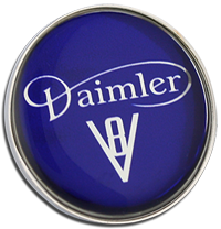 DAIMLER Clutch Pin Badge - V8 Design