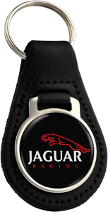JAGUAR Round Leather Keyfob - RACE