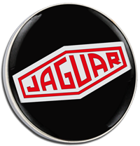 JAGUAR Clutch Pin Badge - RED