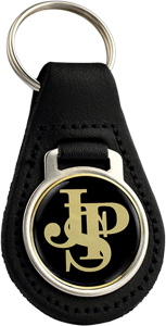 JPS Round Leather Keyfob