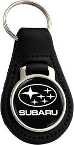 SUBARU STARS Round Leather Keyfob