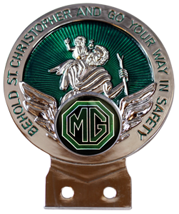 MG Black & Green St Christopher