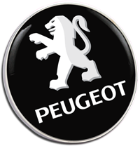 PEUGEOT Text Pin Badge