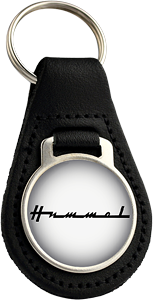 Hummel Round Leather Keyfob
