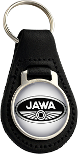 JAWA Round Leather Keyfob (001)