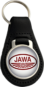 JAWA Round Leather Keyfob (002)