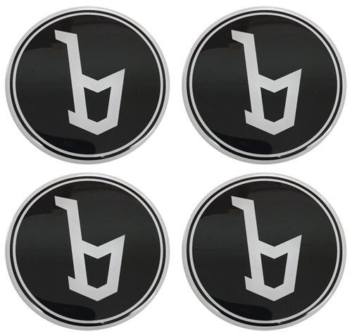 BERTONE Black 'b' Wheel Centres