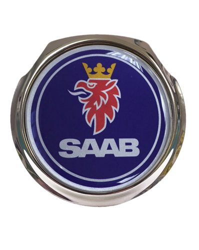 SAAB Blue Logo Car Grille Badge With Fixings