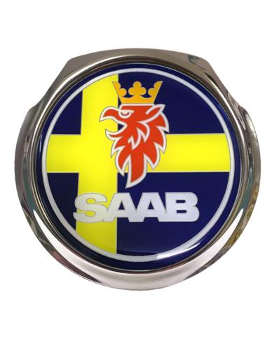 SAAB Sweden Car Grille Badge With Fixings