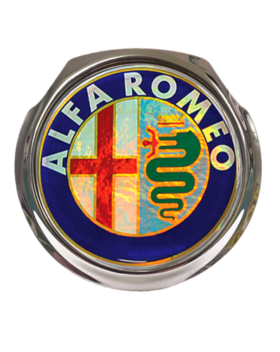 ALFA Colour Logo Car Grille Badge With Fixings