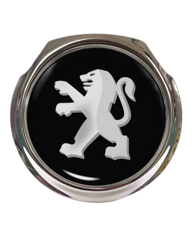 PEUGEOT Car Grille Badge With Fixings
