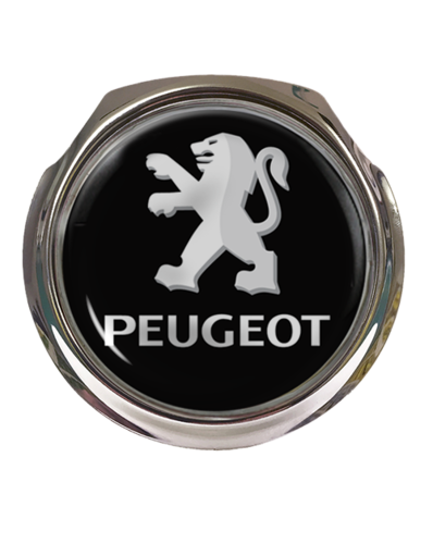PEUGEOT TEXT Car Grille Badge With Fixings