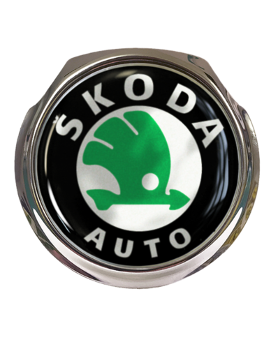 SKODA AUTO Car Grille Badge With Fixings