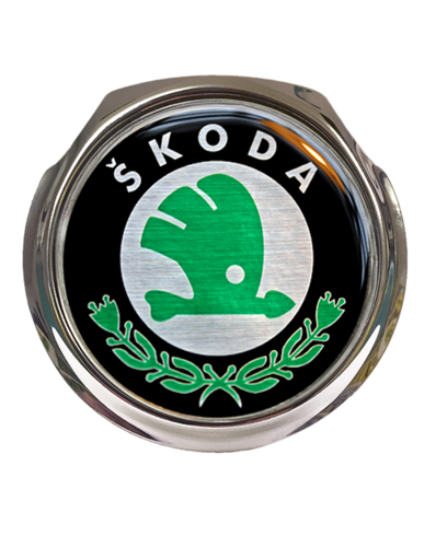 SKODA Car Grille Badge With Fixings